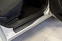Накладки на внутренние пороги дверей Lada Kalina II (хэтчбэк) 2013 н.в.