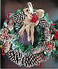 Венок рождественский с шишками и ягодами, фото 2