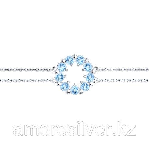 Браслет из серебра с фианитом   SOKOLOV 94-150-00345-1