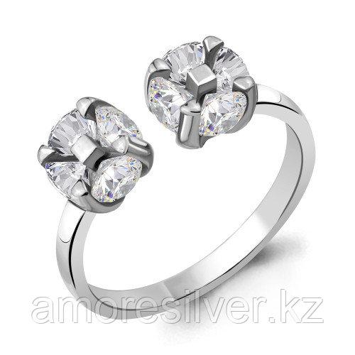 Серебряное кольцо с фианитом    Aquamarine 68624А.5 размеры - 17,5