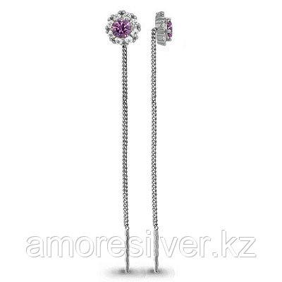 Серебряные серьги с стеклом   Aquamarine 41024Д.5