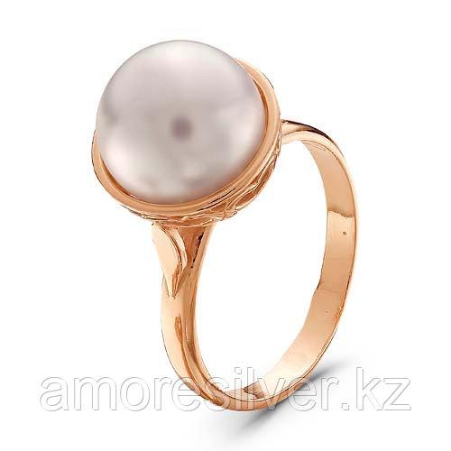 Серебряное кольцо с жемчугом имитированным   Красная Пресня 2367347 размеры - 19,5