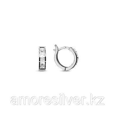 Серьги из серебра с фианитом  Aquamarine 43054А