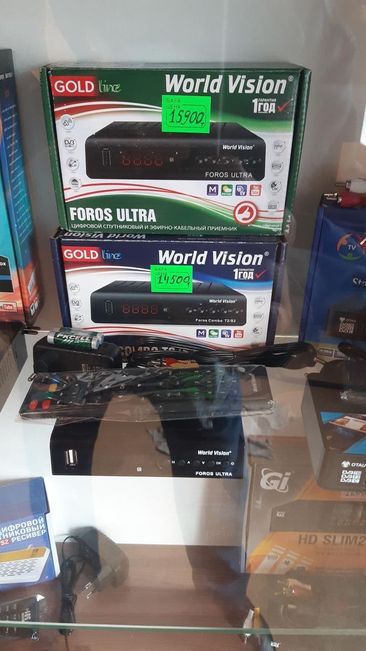 Цифровой комбинированный ресивер.World Vision T2/S2.