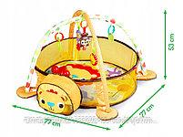 Развивающий коврик и сухой бассейн «Лев»3 в 1+(30 шариков), фото 5
