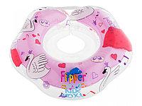 """Надувной круг на шею для купания малышей Flipper 0+ с музыкой из балета """"Лебединое озеро"""" розовый"""