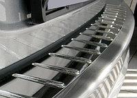 """Накладка на задний бампер с силиконом, нерж. сталь (5D) MITSUBISHI Lancer """"07-"""