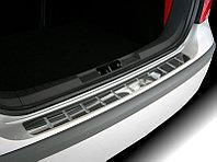 """Накладка на задний бампер с силиконом, нерж. сталь (5D) VW Polo """"09-"""
