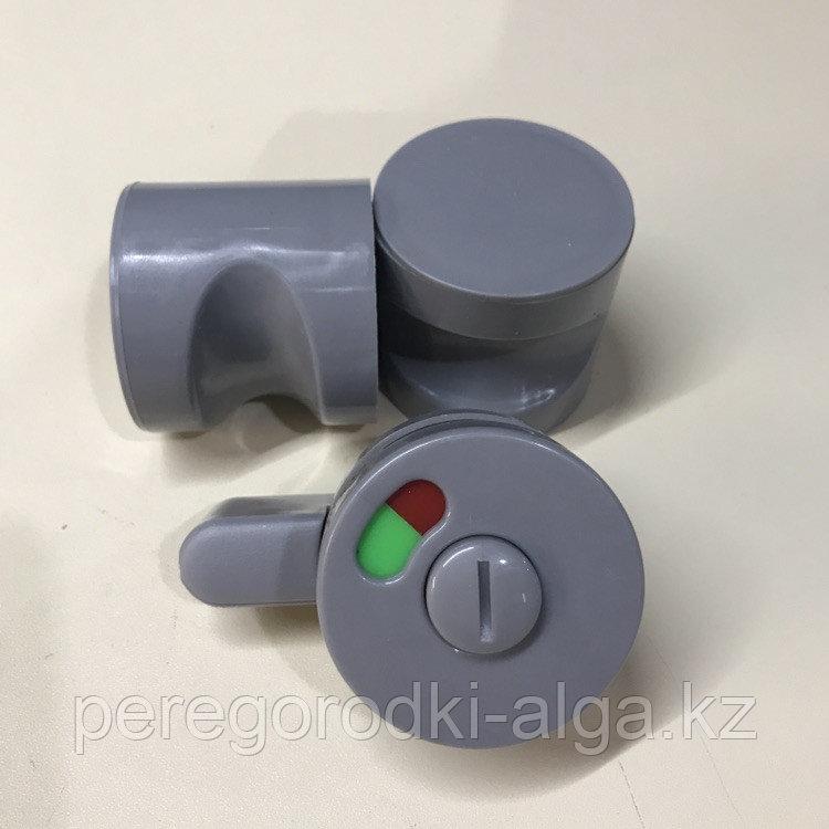 Комплект фурнитуры 2 ручки + задвижка с индикатором занятости (пластик)