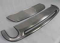 """Комплект накладок на передний и задний бампер, нерж. сталь. (для S-Line) AUDI Q7 """"09-"""