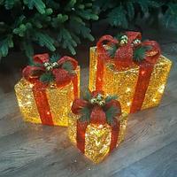 """Новогодняя световая фигура """"Три подарка"""" (НФ-12)"""
