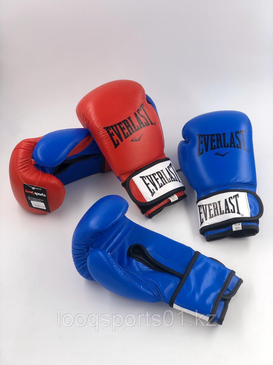 Боксерские перчатки кожа Everlast (12) с бесплатной доставкой