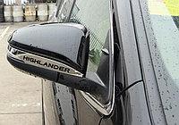 "Молдинг на зеркала с логотипом чёрного цвета, ABS хром TOYOTA Highlander ""14-"