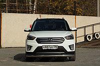 Защита передняя (ОВАЛ) D 75x42 Hyundai Creta 2016-