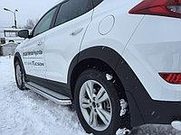 Пороги с площадкой D 60,3 Hyundai Tucson 2015-