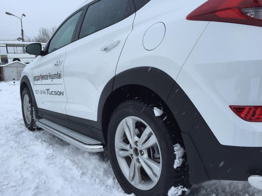 Пороги с площадкой D 60,3 Hyundai Tucson 2015- - фото 1