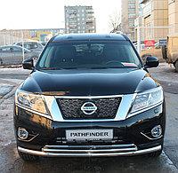 Защита передняя двойная D 60,3/42,4 Nissan Terrano 2014-