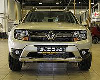 Защита передняя ОВАЛ D 75х42 Renault Duster 2015-