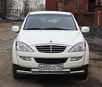 Защита передняя двойная (КРУГ+ОВАЛ) D 76,1/75x42 SsangYong Kyron 2007-