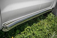 Пороги труба D 76,1 Toyota Hilux 2012-2015