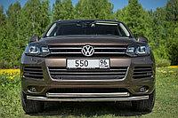 Защита передняя двойная D 60,3/60,3 Volkswagen Touareg 2010-