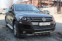 Пороги с площадкой D 60,3 Volkswagen Touareg 2010-