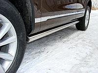 Пороги труба D 60,3 Volkswagen Touareg 2010-
