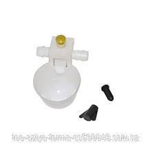 Микрочашечная поилка боковой вход 9,5 мм с регулировкой уровня