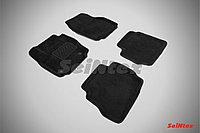 Текстильные 3D коврики Ford MONDEO IV (овальный крепеж) 2007-2010 Черный цвет