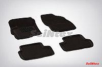 Текстильные 3D коврики Mitsubishi LANCER X 2007- Черный цвет