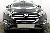 Защита радиатора Hyundai Tucson 2015- black