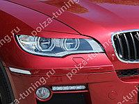 Реснички на фары var №2 BMW X6 (2010-2014) (для Led оптики)