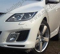 Реснички на фары Mazda 6 (2010-2012) (для моделей с адаптивными фарами)
