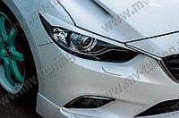 Реснички на фары var №2 фигурные Mazda 6 (2013 - н.в.)