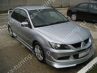 Реснички на фары var №1 узкие Mitsubishi Lancer IX (2003-2009)