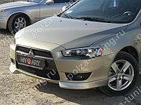 Клыки (накладки) переднего бампера Mitsubishi Lancer X (2007-2010)