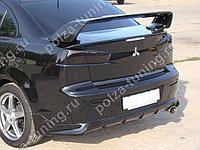 Юбка заднего бампера Zodiak var №1 Mitsubishi Lancer X (2007-2016)