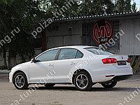 Пороги GLI VW Jetta VI (текстурный пластик) (2010 - н.в.)