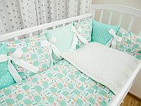 Комплект в детскую кроватку Страна Чудес Ежики 6 предметов
