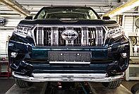 Защита передняя двойная (круг) D76,1/60,3 Toyota LC Prado 150 2017-