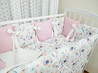 Комплект в детскую кроватку Страна Чудес Птички 6 предметов, фото 1