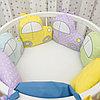 Универсальный комплект в детскую кроватку МАШИНКИ 6 предметов