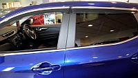 Дефлекторы боковых окон с нержавеющим молдингом, OEM Style Hyundai Creta 2014-