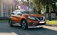 Защита передняя двойная D 60,3/42,4 Nissan Murano 2016-