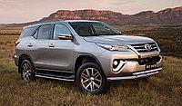 Защита передняя двойная D 76,1/60,3 Toyota Fortuner 2017-