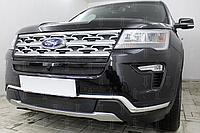 Защита радиатора, чёрная, Ford Explorer 2018- нижняя