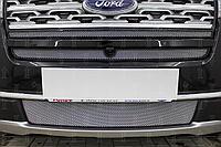 Защита радиатора, хром, Ford Explorer 2018- (верх)
