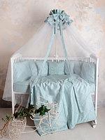Комплект для детской кроватки Карета сатин мятный Р 2-502