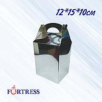 Коробка золото или серебро 12*15*10см