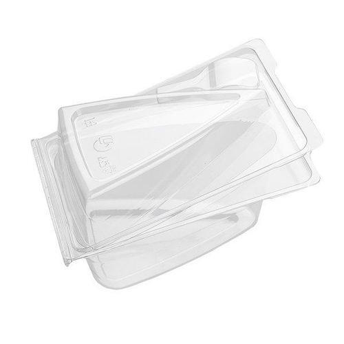 Упаковка д/сегмента торта, треуг., внеш. 155х105х85мм, внутр. 120х79х82мм, прозрачн., ПЭТ, 360 шт